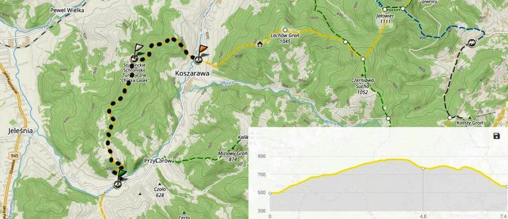 Szlak na Lasek z Koszarawy